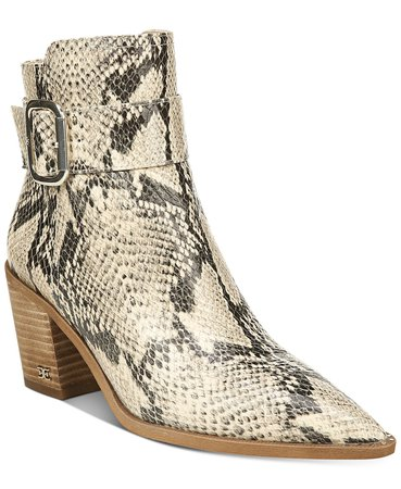 Sam Edelman Leonia Buckle Booties & Reviews - Boots - Shoes - Macy's ivory