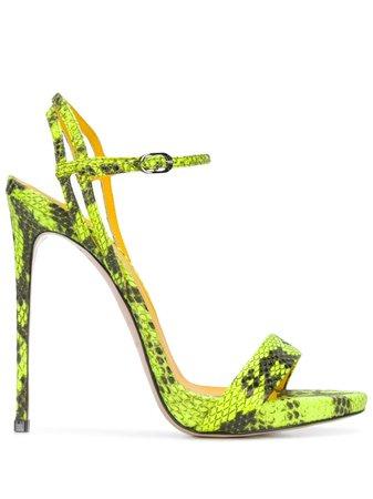 Le Silla Gwen Snake-Effect Sandals Aw19   Farfetch.com
