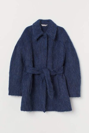 Wool-blend Coat - Blue