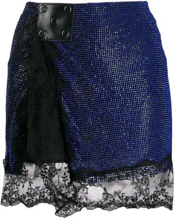 crystal mesh mini skirt