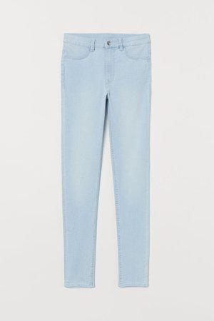 Super Skinny High Jeans - Light blue denim - Ladies   H&M US