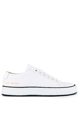 Common Projects Achilles Low Sneaker in White & Black | REVOLVE