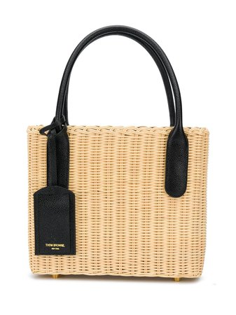 Shop Thom Browne wicker basket bag with Express Delivery - Farfetch