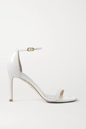 Amelina Leather Sandals - White