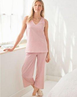 Organic-Cotton Cropped Tank Pajamas | Garnet Hill