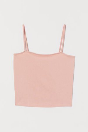 Cropped Jersey Camisole Top - Powder pink - Ladies | H&M US