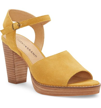 Lucky Brand Naika Ankle Strap Platform Sandal (Women)   Nordstrom