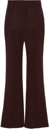 High-Rise Wide-Leg Mohair Wool Pants