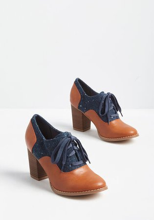 Restricted Ever the Academic Oxford Heel Cognac | ModCloth
