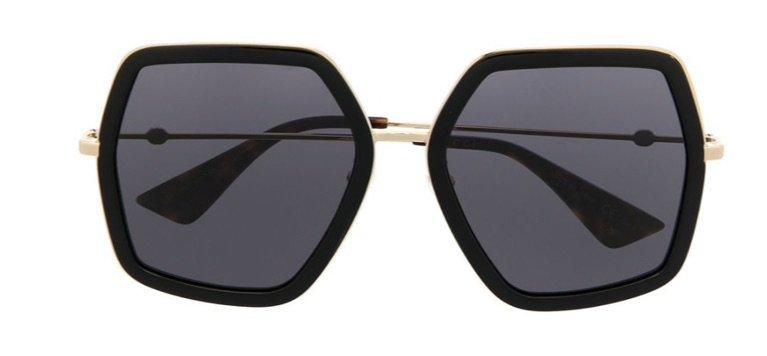 Gucci Oversized Hexagonal Glasses