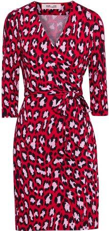New Julian Two Printed Silk-jersey Wrap Dress