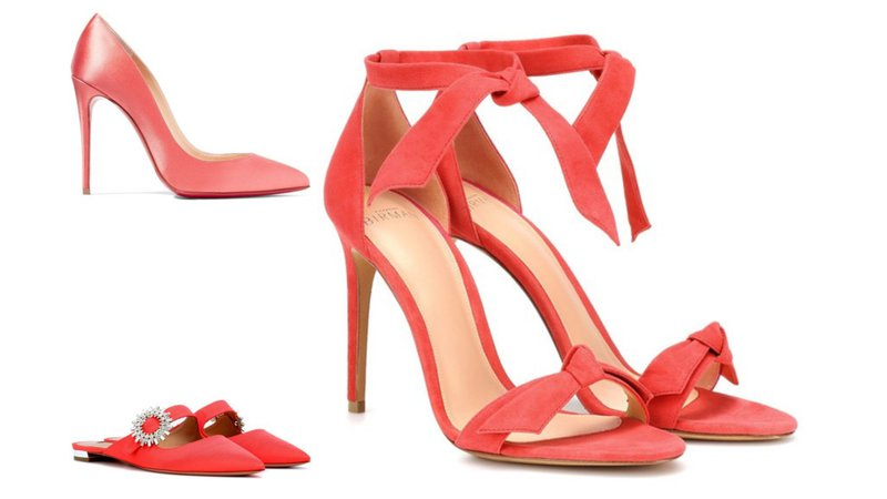 Living Coral Shoe Selection 1