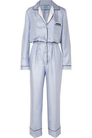 Prada | Silk-twill jumpsuit | NET-A-PORTER.COM