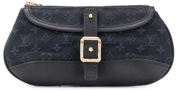Pre Owned monogram buckled clutch