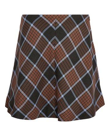 Samsøe Samsøe Kora Checked Mini Skirt | INTERMIX®