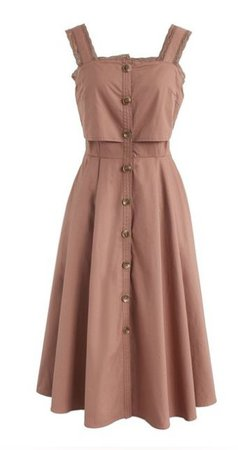 blush button up dress