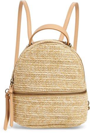 Raffia Convertible Backpack