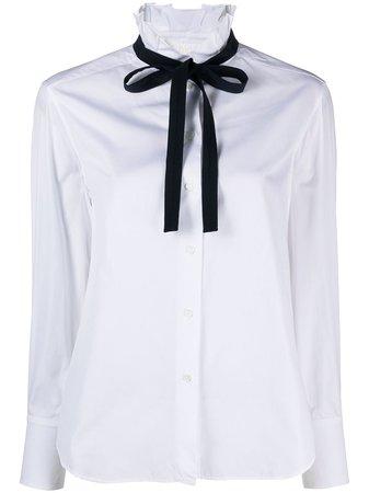 Chloé high-neck Cotton Blouse - Farfetch