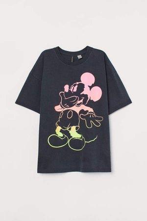 Printed T-shirt - Black