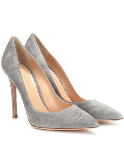 Gianvito 105 Suede Pumps | Gianvito Rossi - Mytheresa