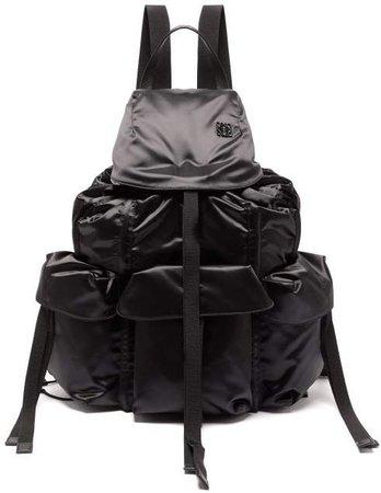 Large Nylon Utility Backpack - Womens - Black
