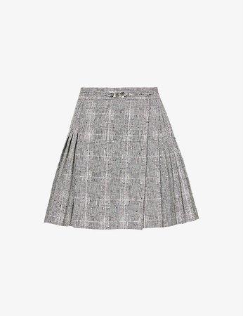 THE KOOPLES - Tartan high-waist linen-blend mini skirt | Selfridges.com