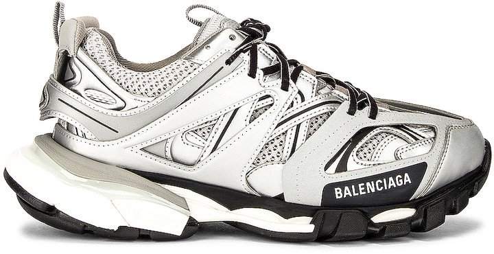 Track Sneakers in Silver | FWRD
