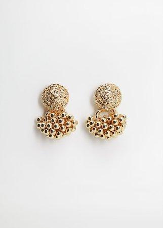 Tassel metallic earrings - Women | Mango USA gold