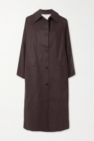 Rubber Trench Coat - Chocolate