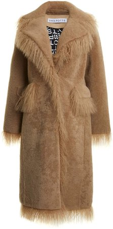 Saks Potts Jimy Fringed Shearling Coat