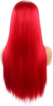 BenU Women's Wigs Long Hair Bangs Wig Clip Long Straight Anime Costume Party Cosplay Wig Black at Amazon Women's Clothing store