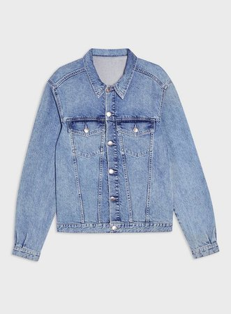 Pale Blue Oversized Denim Jacket | Miss Selfridge