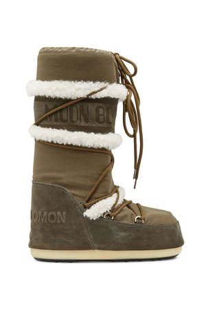 Yves Salomon X Moon Boot - Suede Classic Moonboots with Shearling