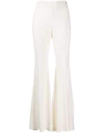 Shop white Amen high-rise flared trousers with Express Delivery - Farfetch