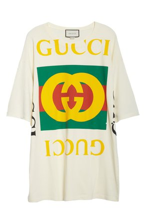 Gucci GG Logo Oversize Cotton Tee | Nordstrom