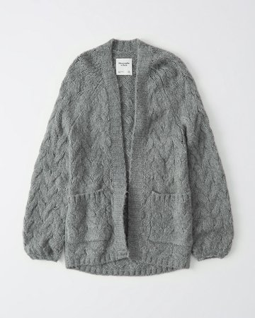 Womens Cable Knit Cardigan | Womens Tops | Abercrombie.com