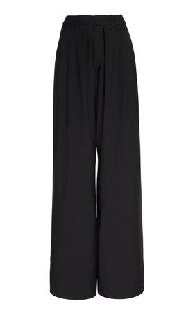 Pleated Wool Wide-Leg Pants by Michael Lo Sordo | Moda Operandi