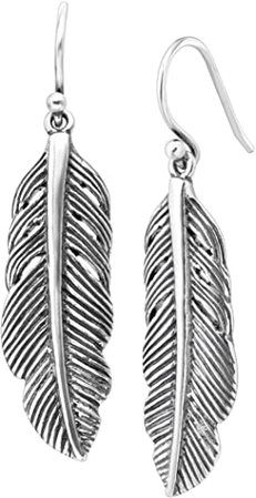 Amazon.com: Silpada 'Etched Feather' Drop Earrings in Sterling Silver: Clothing