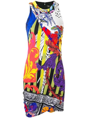 Versace short printed dress $1,365 - Shop SS19 Online - Fast Delivery, Price