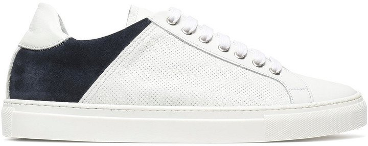 Rory Suede And Perforated Leather Sneakers