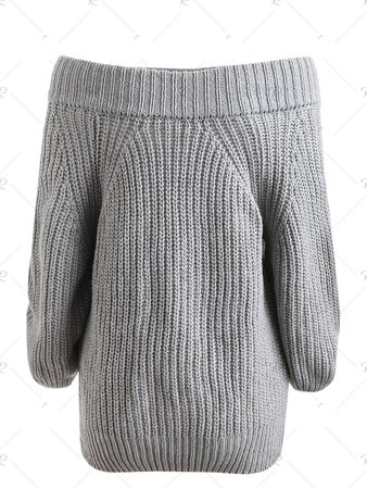 [41% OFF] Pullover Off The Shoulder Chunky Sweater | Rosegal