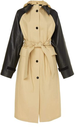 Kassl Two-Tone Cotton Trench Coat