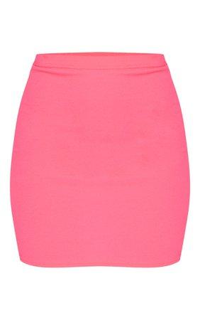 Neon Pink Mini Skirt | Skirts | PrettyLittleThing