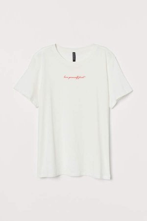 Straight-cut T-shirt - White