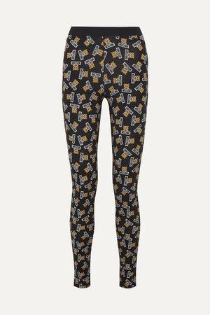 Moschino | Printed stretch-cotton jersey leggings | NET-A-PORTER.COM