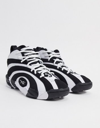 Reebok shaqnosis hi top sneakers in white | ASOS