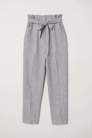 Paper-bag Pants - Gray