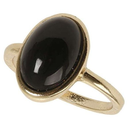 Dorothy Perkins Black Stone Ring