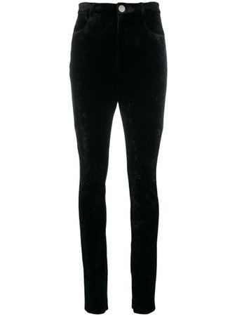 The Attico The Attico Velvet Pants - Black - 11060209 | italist