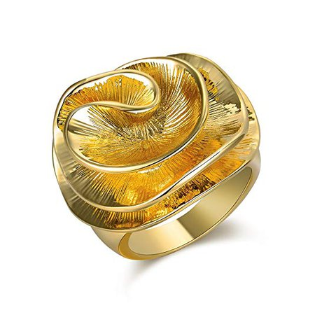 Gold-Plated Copper Statement Ring